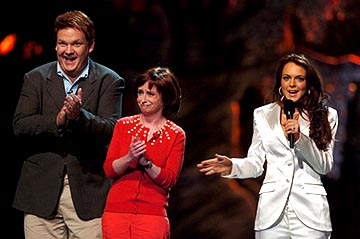 Andy Richter, Rachel Dratch and Lindsay Lohan MTV Movie Awards - 6/5/2004