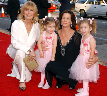 Joanna Cassidy and Rachel Griffiths with Brenna and Bronwyn Tosh HBO's Six Feet Under Premiere Hollywood, CA - 5/17/2005