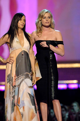 Famke Janssen and Rebecca Romijn MTV Movie Awards - 6/3/2006