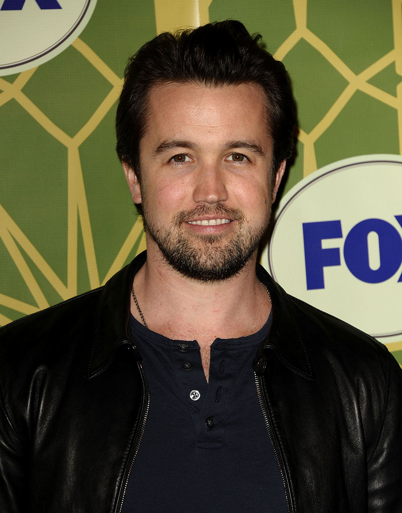 "Rob McElhenney (""It's Always Sunny in Philadelphia"") attends the 2012 Fox Winter TCA All-Star Party at Castle Green on January 8, 2012 in Pasadena, California."