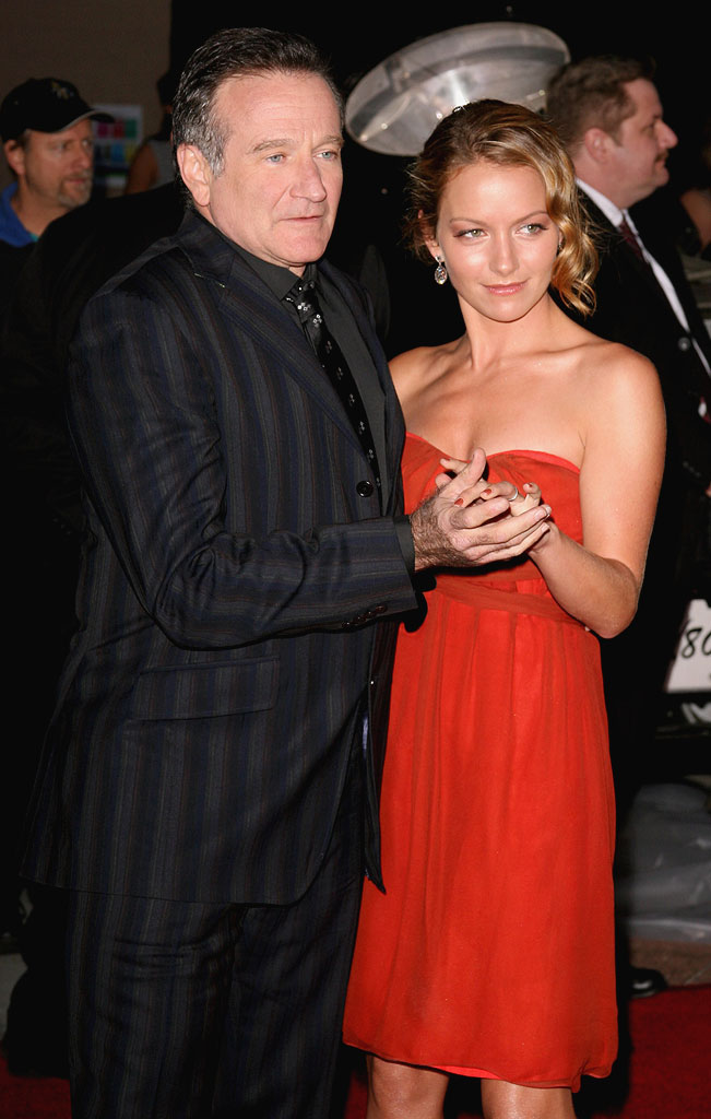 Robin Williams and Becki Newton at The 33rd Annual People's Choice Awards.
