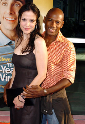 Premiere: Mary-Louise Parker and Romany Malco at the Hollywood premiere of Universal Pictures' The 40-Year-Old Virgin - 8/11/2005