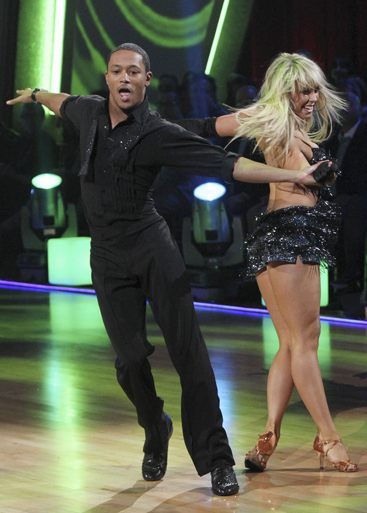 "Romeo and Chelsie Hightower perform the Cha-Cha-Cha on ""Dancing with the Stars."""