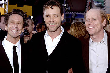 Premiere: Brian Grazer, Russell Crowe and Ron Howard at the LA premiere of Universal's Cinderella Man - 5/23/2005