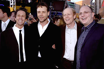Premiere: Brian Grazer, Russell Crowe, Ron Howard and Akiva Goldsman at the LA premiere of Universal's Cinderella Man - 5/23/2005