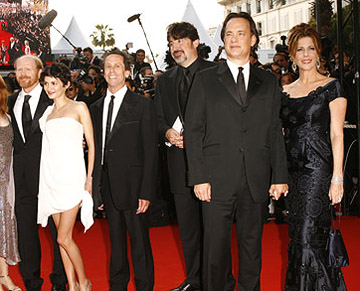 "Ron Howard, Audrey Tautou, Brian Grazer, Alfred Molina, Tom Hanks and Rita Wilson ""The Da Vinci Code"" Premiere - 5/17/2006 2006 Cannes Film Festival"