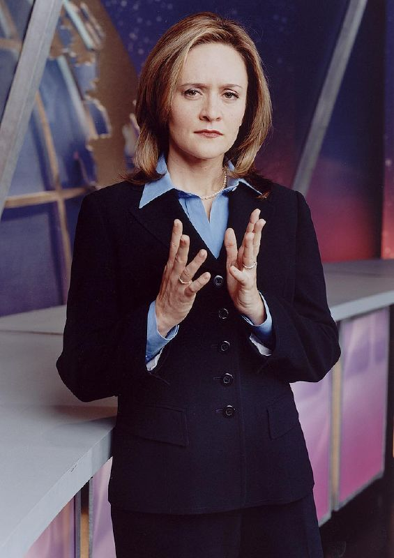 Samantha Bee performs in The Daily Show on Comedy Central.