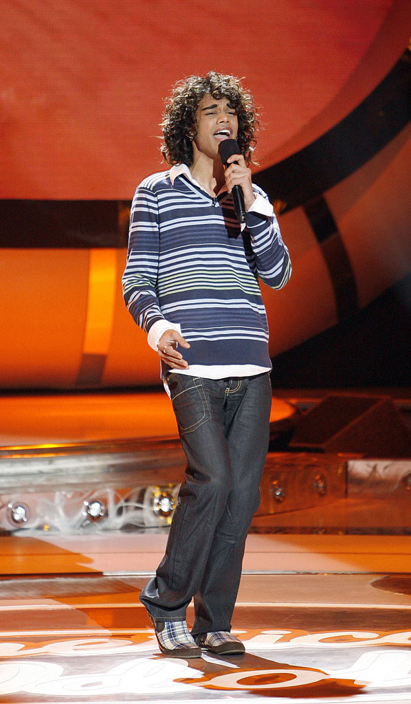 Sanjaya Malakar performs as one of the top 12 contestants on the 6th season of American Idol.