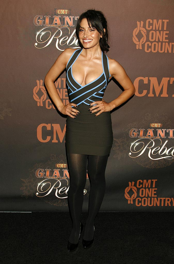 Sarah Shahi of Life at the CMT Giants Honoring Reba McEntire party.