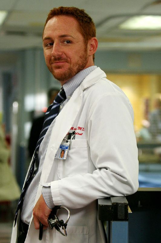 Scott Grimes as Dr. Morris in ER on NBC.