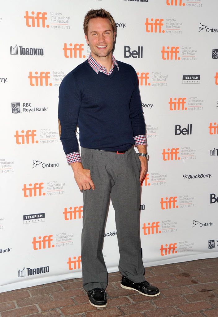 "Scott Porter attends ""Ten Year"" Premiere at Ryerson Theatre during the 2011 Toronto International Film Festival on September 12, 2011 in Toronto, Canada."