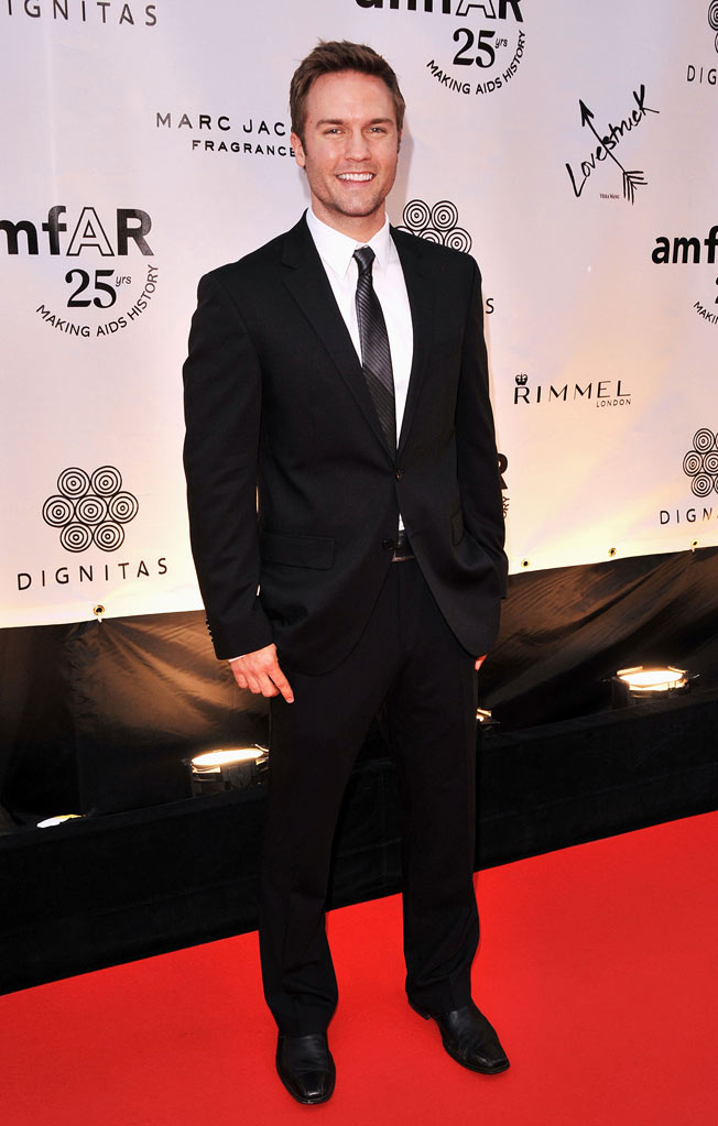 Scott Porter arrives at Cinema Against AIDS Toronto 2011 Benefitting amfAR and Dignitas at the Carlu Hotel on September 11, 2011 in Toronto, Canada.
