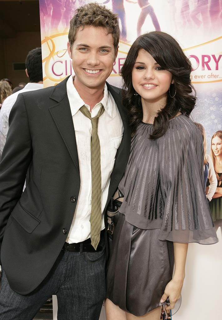"Drew Seeley and Selena Gomez arrive on the Red Carpet at the premiere of ""Another Cinderella Story"" at Pacific Theatres at the Grove on September 14, 2008 in Los Angeles, California."