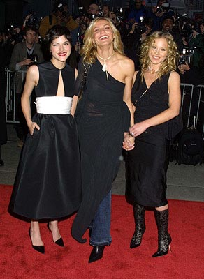 Premiere: Selma Blair, Cameron Diaz and Christina Applegate at the New York premiere of Columbia's The Sweetest Thing - 4/8/2002
