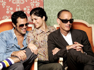 Johnny Knoxville, Selma Blair and director John Waters 2004 Toronto International Film Festival - A Dirty Shame Portraits