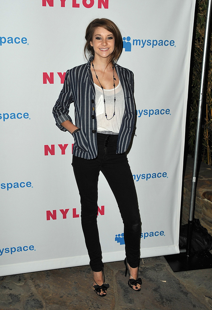 Shailene Woodley attends NYLON Magazine and MySpace Young Hollywood Issue Party at the Hollywood Roosevelt Hotel on May 4, 2009 in Hollywood, California.