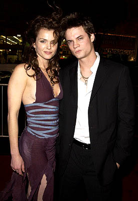Premiere: Dina Meyer and Shane West at the Hollywood premiere of A Walk To Remember - 1/23/2002