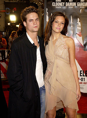 Premiere: Shane West and Mandy Moore at the Westwood premiere of Warner Brothers' Ocean's Eleven - 12/5/2001