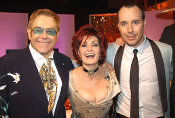 Elton John, Sharon Osbourne and David Furnish 13th Annual Elton John AIDS Foundation Oscar Party West Hollywood, CA - 2/27/05
