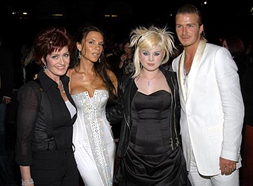 Sharon Osbourne, Victoria Beckham, Kelly Osbourne, David Beckham MTV Movie Awards - 5/31/2003