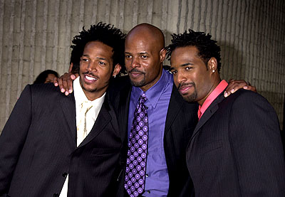 Premiere: Marlon Wayans, Keenen Ivory Wayans and Shawn Wayans at the Westwood premiere of Dimension's Scary Movie 2 - 7/2/2001