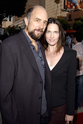 Premiere: Richard Schiff and Sheila Kelley at the LA premiere of New Line's Simone - 8/13/2002