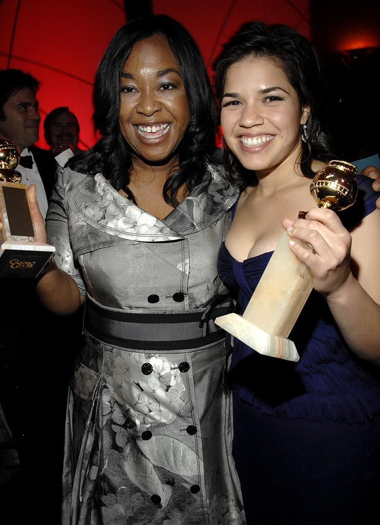 Shonda Rhimes and America Ferrera at the In Style and Warner Bros. 2007 Golden Globe After Party.