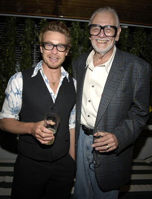 Simon Baker and director George A. RomeroGeorge A. Romero's Land of the Dead Party Cannes Film Festival - 5/13/05