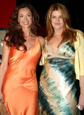 Sofia Milos and Kirstie Alley at the Los Angeles premiere of Showtime's Fat Actress - 2/23/2005