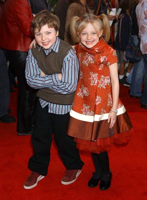Premiere: Spencer Breslin and Dakota Fanning at the LA premiere of Universal's Dr. Seuss' The Cat in the Hat - 11/8/2003