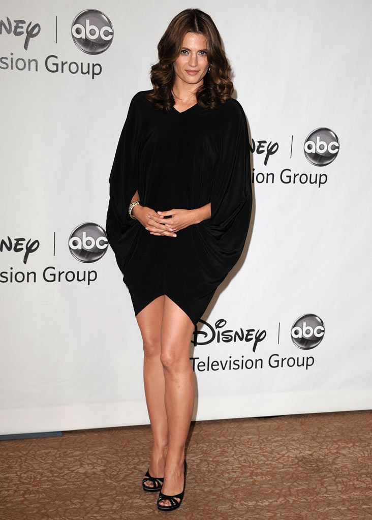 """Castle's"" Stana Katic arrives at NBC Universal's 2010 TCA Summer Party on July 30, 2010 in Beverly Hills, California."
