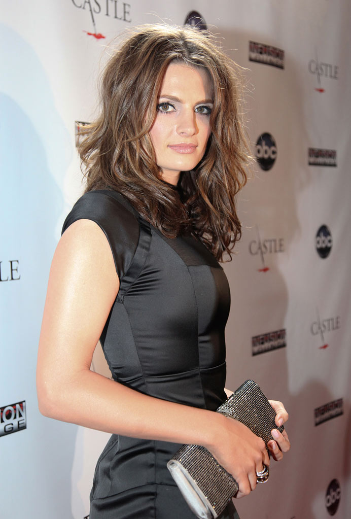 "Stana Katic arrives at the ""Castle"" Season 3 premiere party on September 13, 2010, in Los Angeles."