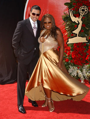 Al Reynolds and Star Jones 56th Annual Emmy Awards - 9/19/2004 Star Jones