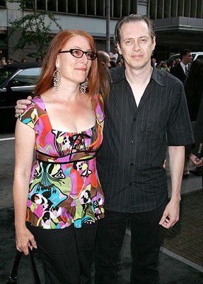 Premiere: Steve Buscemi with Jo Andres at the New York premiere of Dreamworks' The Island - 7/11/2005
