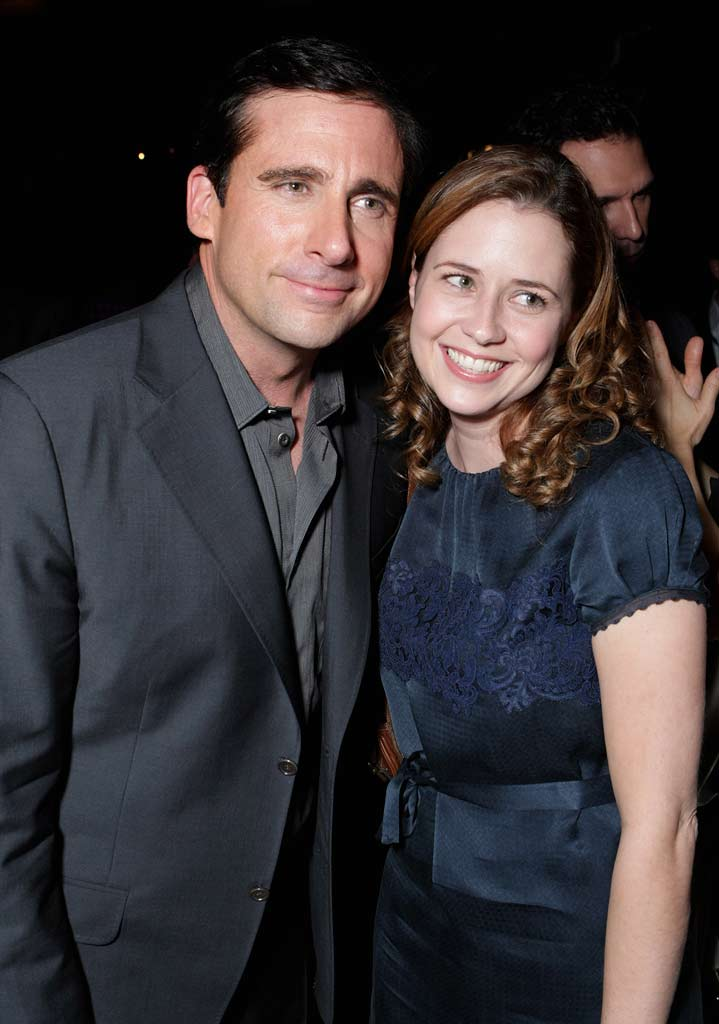 "Steve Carell and Jenna Fischer at the World Premiere of Touchstone Pictures ""DAN IN REAL LIFE"" at the El Capitan Theatre."