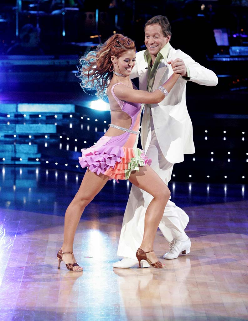 Anna Trebunskaya and Steve Guttenberg perform a dance on the sixth season of Dancing with the Stars.