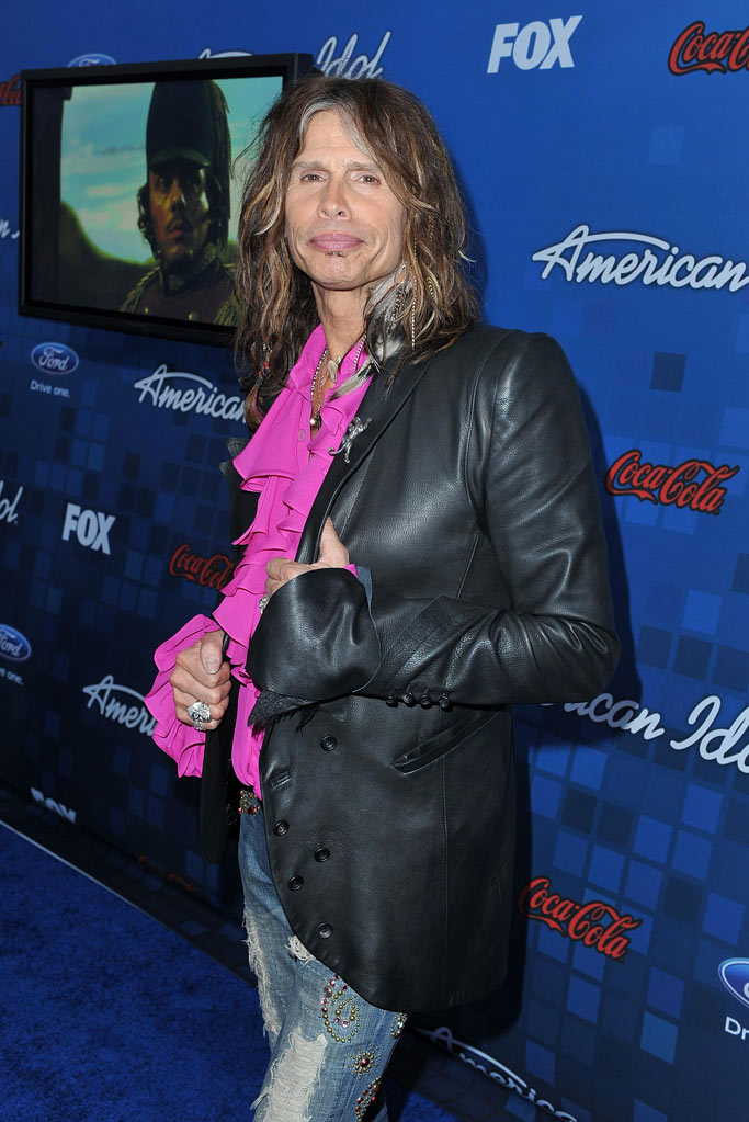 "Steven Tyler arrives at the ""American Idol"" Top 13 Finalists Party on Thursday, March 3, 2011 at The Grove in Los Angeles, CA."