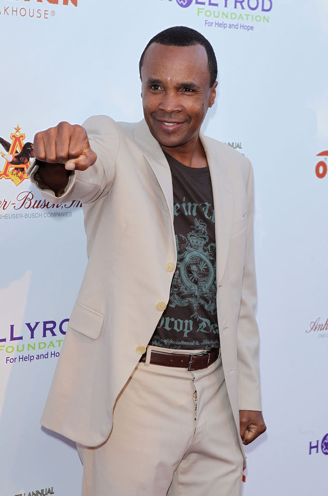 Sugar Ray Leonard arrives to the HollyRod Foundation's - 12th Annual Design Care Event held at Ron Burkle's Green Acres Estate on July 24, 2010 in Beverly Hills, California.