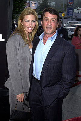 Premiere: Jennifer Flavin and Sylvester Stallone at the L.A. premiere of MGM's Original Sin - 7/31/2001