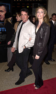 Premiere: Sylvester Stallone and Jennifer Flavin at the Century City premiere of New Line's 15 Minutes - 3/1/2001
