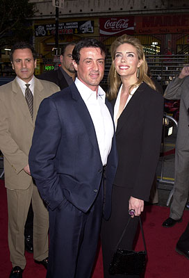 Premiere: Frank Stallone, Sylvester Stallone and Jennifer Flavin at the Hollywood premiere of Warner Brothers' Driven - 4/16/2001