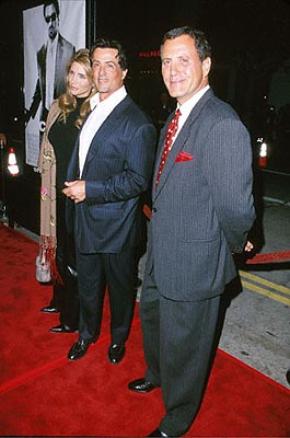 Premiere: Jennifer Flavin, Sylvester Stallone and Frank Stallone at the Mann's Bruin Theater premiere of Warner Brothers' Get Carter - 10/4/2000