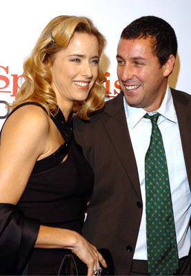 Premiere: Tea Leoni and Adam Sandler at the Westwood premiere of Columbia Pictures' Spanglish - 12/9/2004