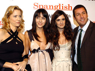 Premiere: Tea Leoni, Cecilia Suarez, Paz Vega and Adam Sandler at the Westwood premiere of Columbia Pictures' Spanglish - 12/9/2004