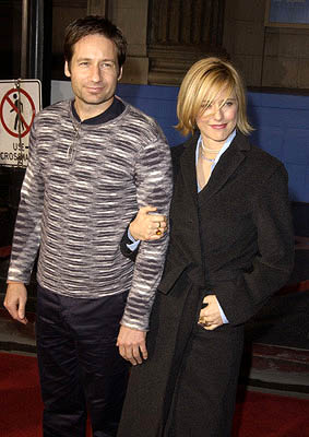 Premiere: David Duchovny and Tea Leoni at the Hollywood premiere of The Royal Tenenbaums - 12/6/2001