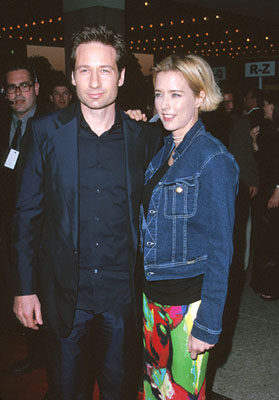 Premiere: David Duchovny and Tea Leoni at the premiere of MGM's Return To Me - 2000