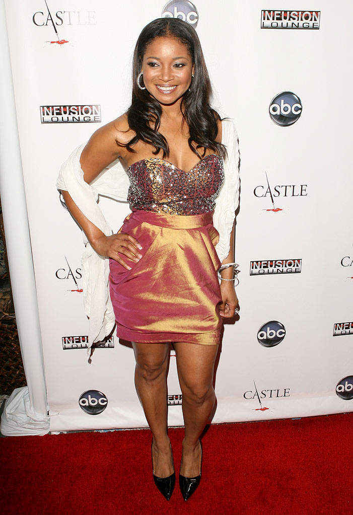 "Tamala Jones arrives at the ""Castle"" Season 3 premiere party on September 13, 2010, in Los Angeles."