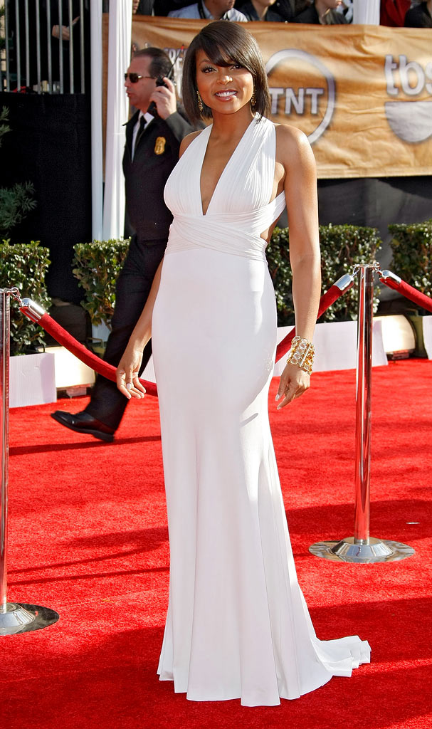 Taraji P. Henson arrives at the 15th Annual Screen Actors Guild Awards held at the Shrine Auditorium on January 25, 2009 in Los Angeles, California.