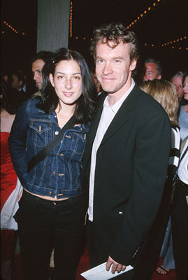 Premiere: Tate Donovan with his date at the premiere of MGM's Return To Me - 2000