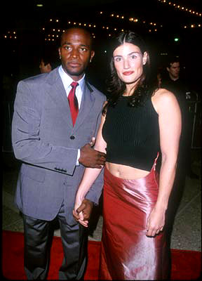 Premiere: Taye Diggs and gal at the Century City premiere of Universal's The Best Man - 10/14/99